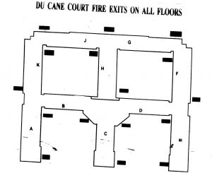 du cane court fire exits and floor plan